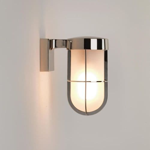 Astro 1368006 Cabin Outdoor Wall Light Frosted Glass Polished Nickel